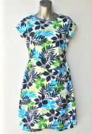 Youth Size 14 -  Blue and Green Leaves and Flowers