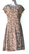 Ladies' Size L - Brown Floral on Brown
