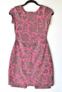 Youth Size 12 - Brown Flowers on Pink