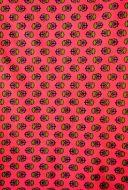 2.5 yds fabric - Flowers on Orange Background