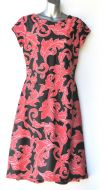 Ladies' Size L - Red Floral on Black