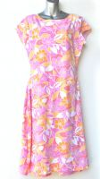 Ladies' Size S - Pink and Orange Floral on White